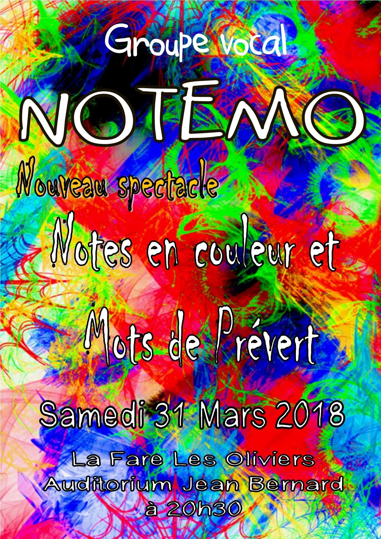 NOTEs en couleur et MOts de Prevert @ Auditorium René Bartoli