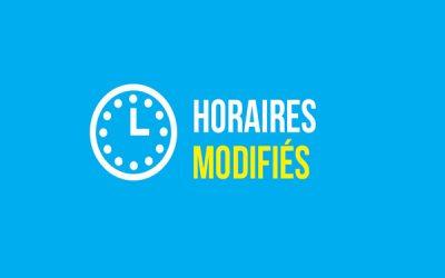 MODIFICATION DES HORAIRES DES LIGNES SCOLAIRES