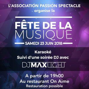 Fête de la musique organisée par Passion Spectacle @ A la salle de restaurant « ON AIME » | La Fare-les-Oliviers | France