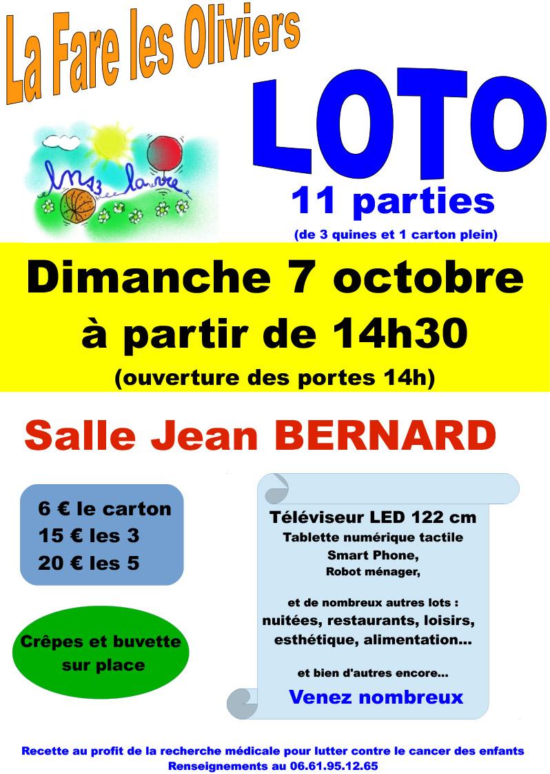 """Loto """"Ouverture des portes à 14h"""" @ Centre Culturel Jean Bernard"""