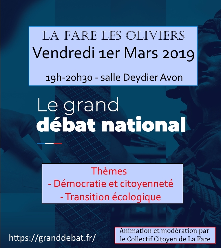GRAND DEBAT NATIONAL @ Salle Deydier Avon