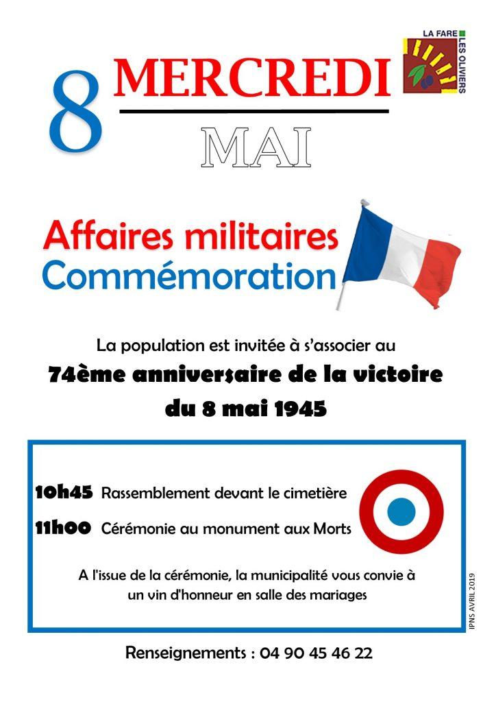 74ème anniversaire de la Victoire du 8 mai 1945 @ Cimetière - monument aux morts