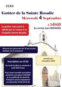Goûter de Sainte Rosalie @ Centre culturel Jean Bernard