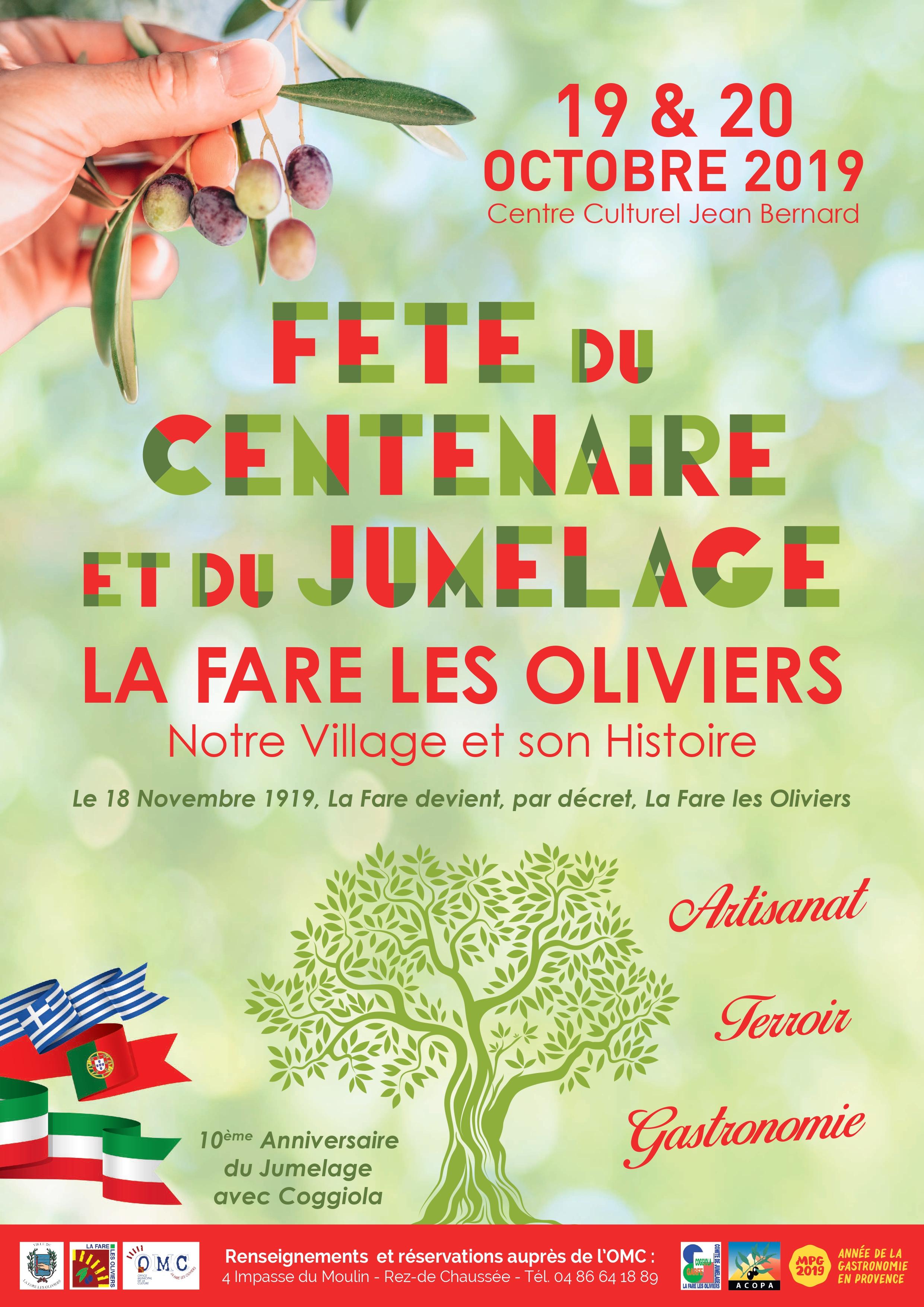 Calendrier Des Fetes De Village 64.Fete Du Centenaire Et Du Jumelage La Fare Les Oliviers