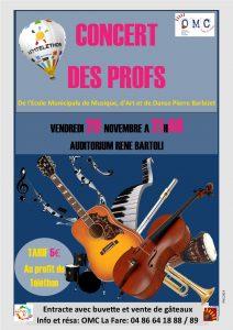Concert des Professeurs de l'Ecole Municipale de Musique Pierre Barbizet @ Auditorium René Bartoli