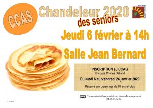 Chandeleur du CCAS @ Centre culturel Jean Bernard