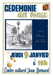 Cérémonie de présentation des vœux à la population @ Centre culturel Jean Bernard
