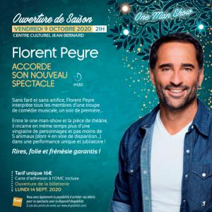 Spectacle OMC - Florent Peyre @ Centre Culturel Jean Bernard