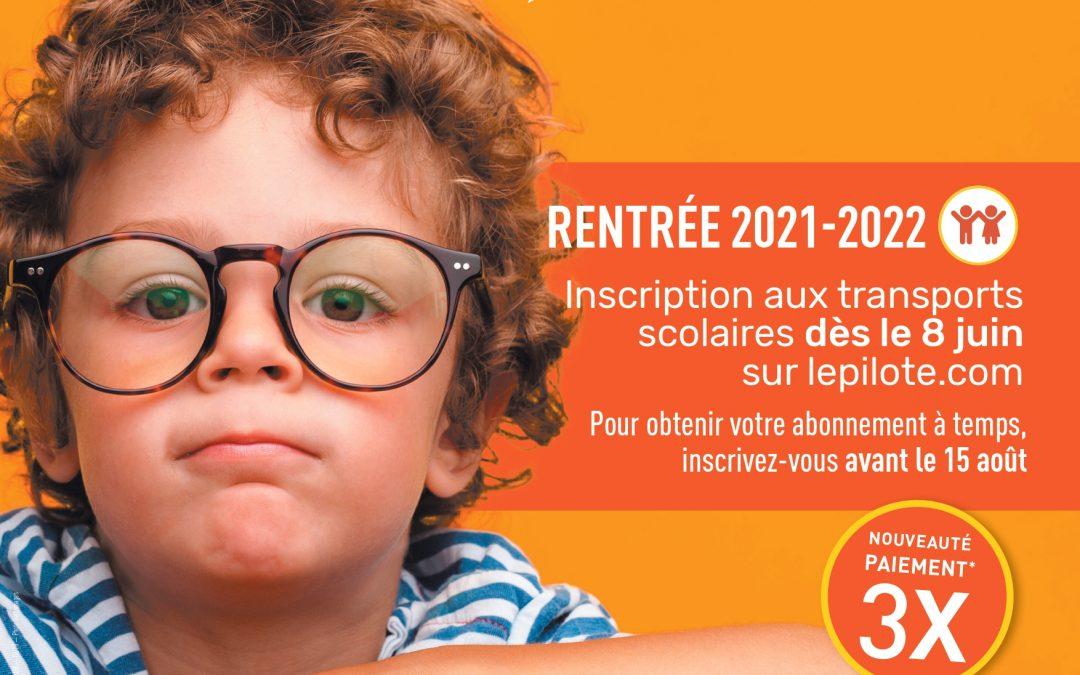 RENTREE 2021-2022 : INSCRIPTIONS AUX TRANSPORTS SCOLAIRES